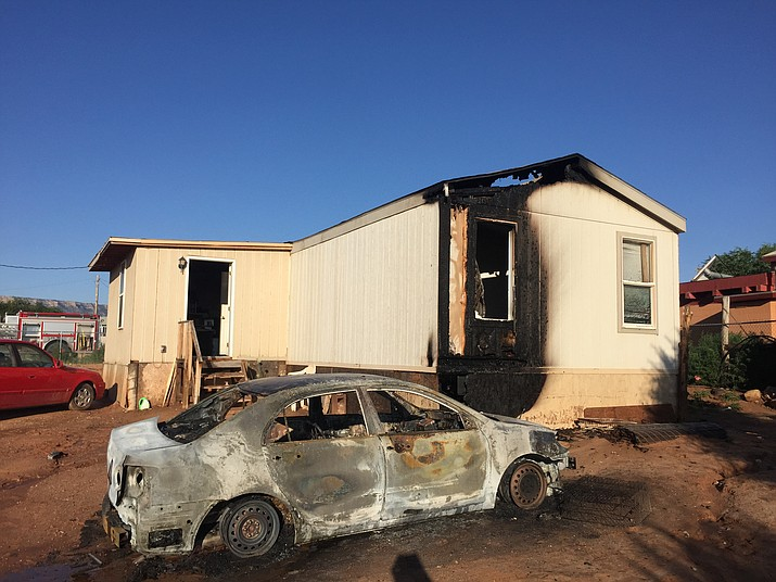 May Ann Miller's trailer burned in 2015 and was never repaired. Two years later, Miller's daughter is seeking help to repair the trailer. (Photo/Celeste Gilman)