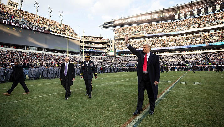 President Donald Trump threatened repeatedly on Tuesday to shut down the government if Congress doesn't provide the money he says is needed to build a wall at the Mexican border. (Official White House Photo by Joyce N. Boghosian)