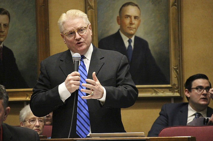 Worsley of Mesa and Rep. Noel Campbell of Prescott mark the latest effort to end the raid of about $95 million a year that is supposed to fund local roads. Worsley pushed a similar bill last year but it died after Senate President Steve Yarbrough refused to allow a formal vote. (Bob Christie/AP, file)