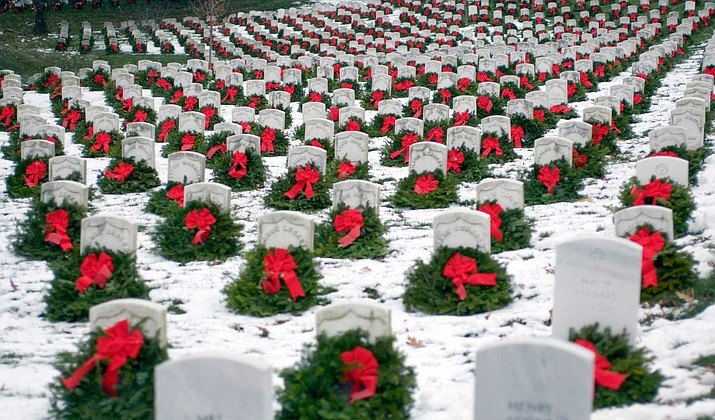 This iconic image became viral in 2005, inspiring increased national interest in the annual tribute and prompting the formation of Wreaths Across America as a non-profit 501-(c)(3). (Courtesy)