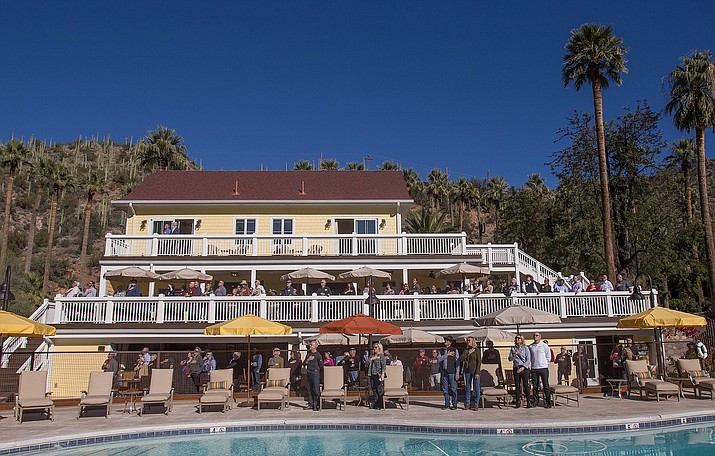 More than 300 invited guests turned out for a sneak preview of the historic Castle Hot Springs, which has been undergoing renovations since 2015. The southern-Yavapai County resort is scheduled to reopen in February 2019. (Courtesy/Patrick Rapps)