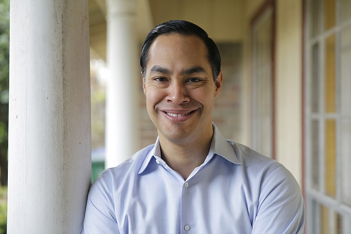 Democrat Julian Castro at his home in San Antonio, Tuesday, Dec. 11, 2018. Castro says he is launching a presidential exploratory committee ahead of a likely White House run in 2020. Castro was the nation's housing secretary until 2016 and spent five years as mayor of San Antonio. (Eric Gay/AP)