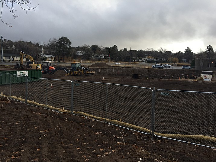 A commercial project is underway along Whipple Street in Prescott. When complete, it will be a geriatric/psychiatric hospital. (Max Efrein/Courier)