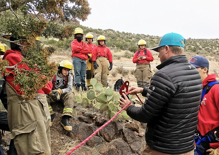 Fire Science students with Valley Academy of Career and Technology Education train for their May 2019 state certifications. VACTE courtesy photo