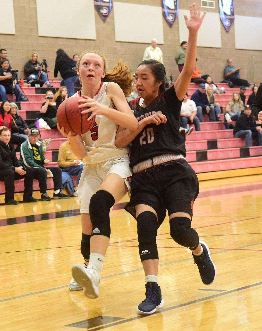 Bradshaw Mountain's Sierra Woolley drives to the hoop on a fast break as the Bears hosted Coconino in a doubleheader hoops matchup Saturday, Dec. 15, 2018 in Prescott Valley. (Les Stukenberg/Courier).