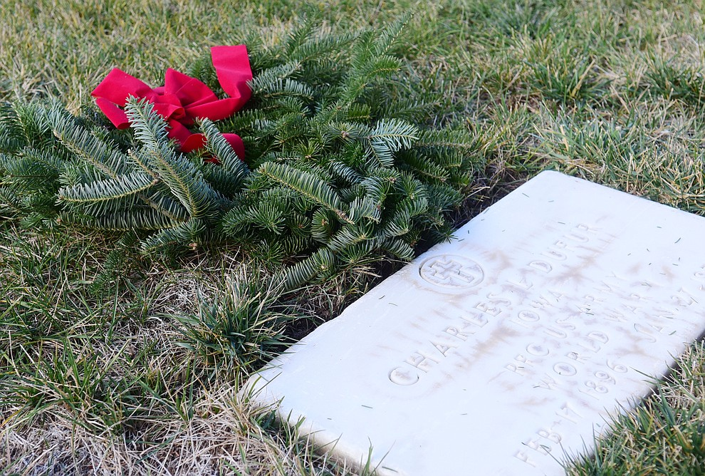 The Wreaths Across America Ceremony that placed 2106 veteran remembrance wreaths at the Prescott National Cemetery Saturday, Dec. 15, 2018. (Les Stukenberg/Courier).