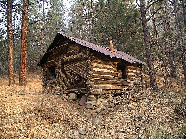 Old log cabin (circa 1930) on Spruce Mountain. (Nigel Reynolds/Courtesy}