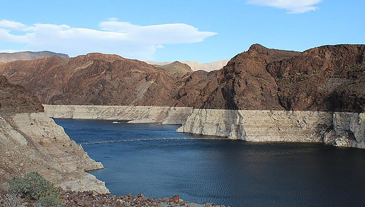 Lake Mead, which stores Colorado River water, has not seen such low levels in decades. (Photo by Luke Runyon/KUNC)