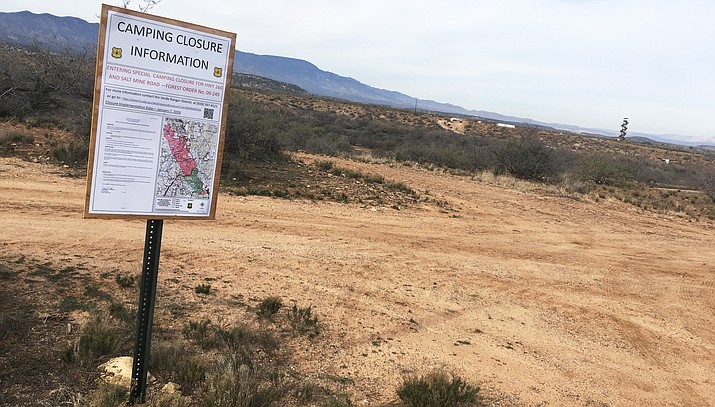 Photos of signs posted southbound about 1.5 miles north of the Grief Hill Trailhead in Camp Verde near the County Jail and near Out Of Africa off Cherry Creek Road at SR 260. VVN/Bill Helm