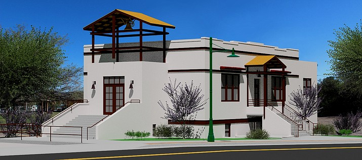 An architectural rendering shows the design concept for the Old Town brewpub to be located in the former Cottonwood Rec Center. Photo courtesy Robert Conlin