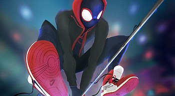 """Into the Spider-Verse:"" A fun world full of Spider-People photo"