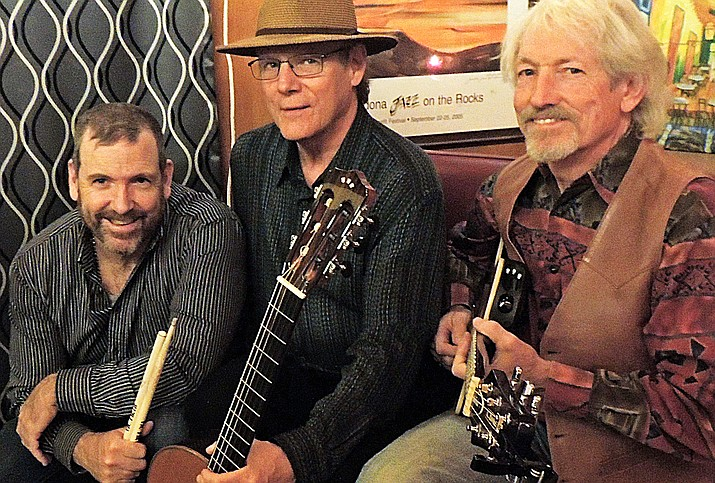 Ironwood features fingerstyle guitarist Rick Cyge with his partner from 'The Sedona Guitar Duo,' bassist/guitar player Steve Douglas, and drummer/percussionist Kevin McQuaid.