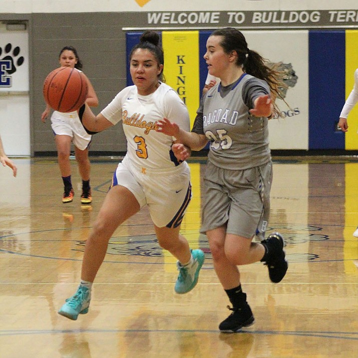 Sukwana Quasula led the Lady Bulldogs with 22 points Monday night in a 49-21 win over Bagdad. (Photo by Beau Bearden/Daily Miner)