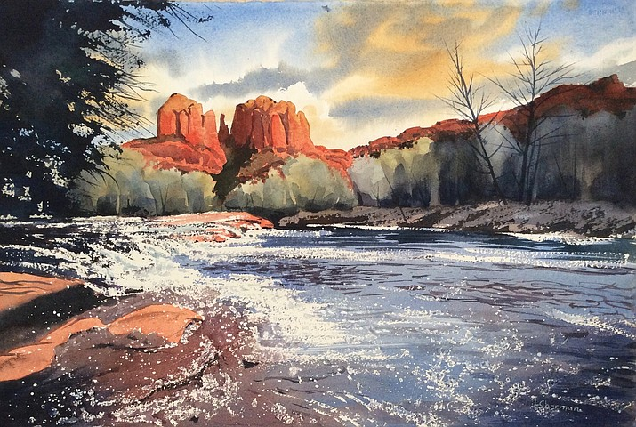 Painting by Linda Sherman