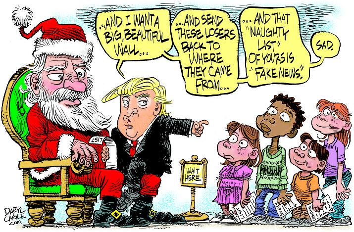 Editorial cartoon (2): Dec 18, 2018