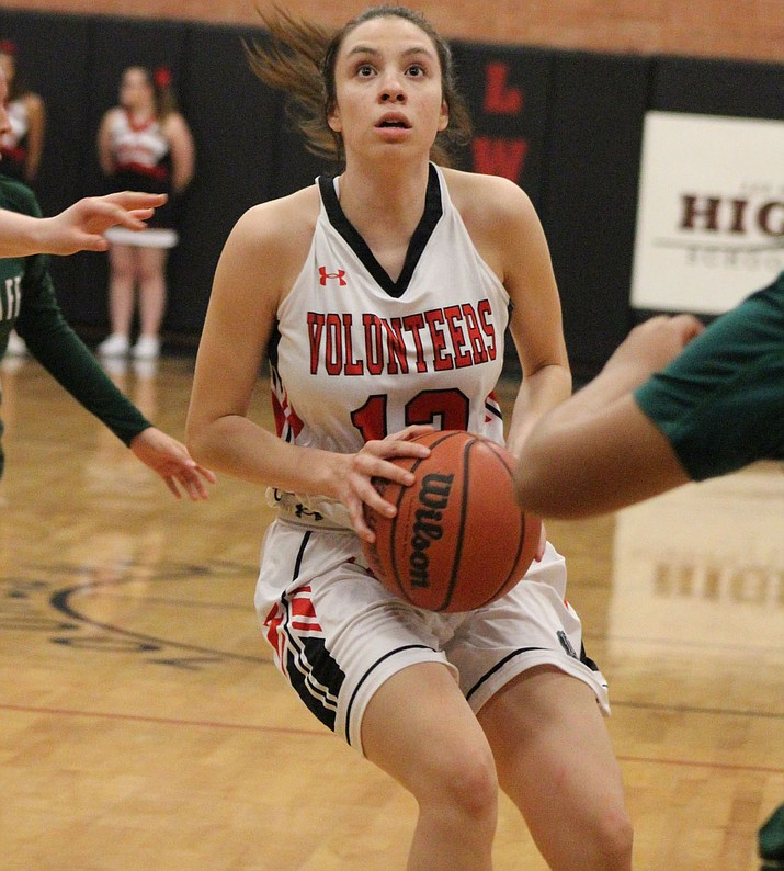 Kaylee Bond and the Lady Vols picked up their third win of the season Monday in a 45-28 victory over Dysart. (Daily Miner file photo)