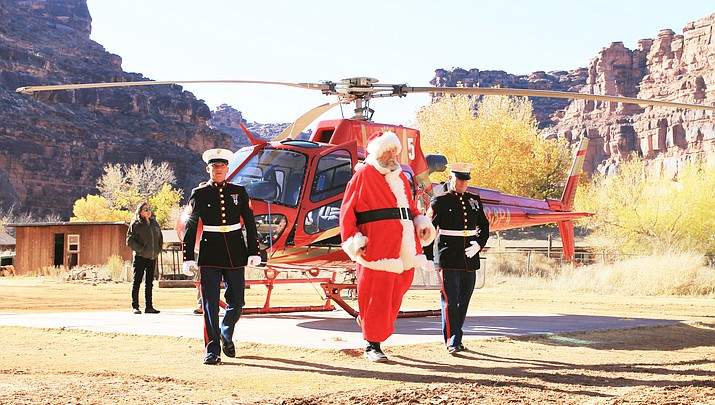 Santa touches down at Supai Village
