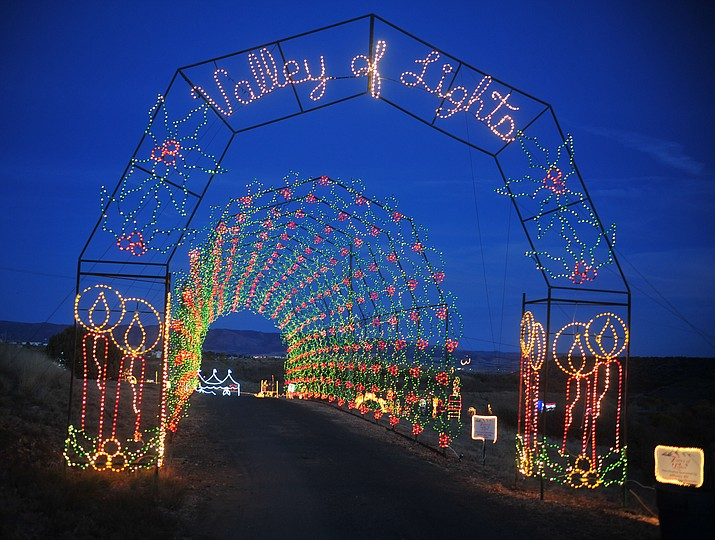 Valley of Lights Drive Through Light Display continues now through Sunday, Dec. 30 at Fain Park, 2200 N. Fifth St. in Prescott Valley. (Les Stukenberg/Courier)
