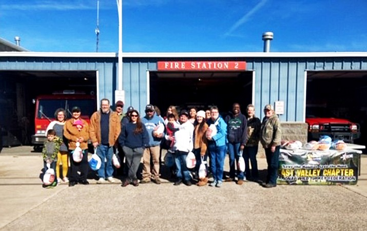 Williams Fire Department assists the National Wild Turkey Federation with its annual turkey give away. (Williams Volunteer Fire Department)