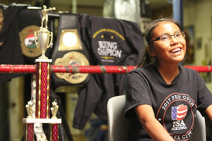 Mariah Bahe is the reigning Arizona State Junior Olympics champion and qualified for the 2018 Elite and Youth National Championships, and Junior and Prep Open in Salt Lake City. (Photo by Isaac Colindres/Cronkite News)