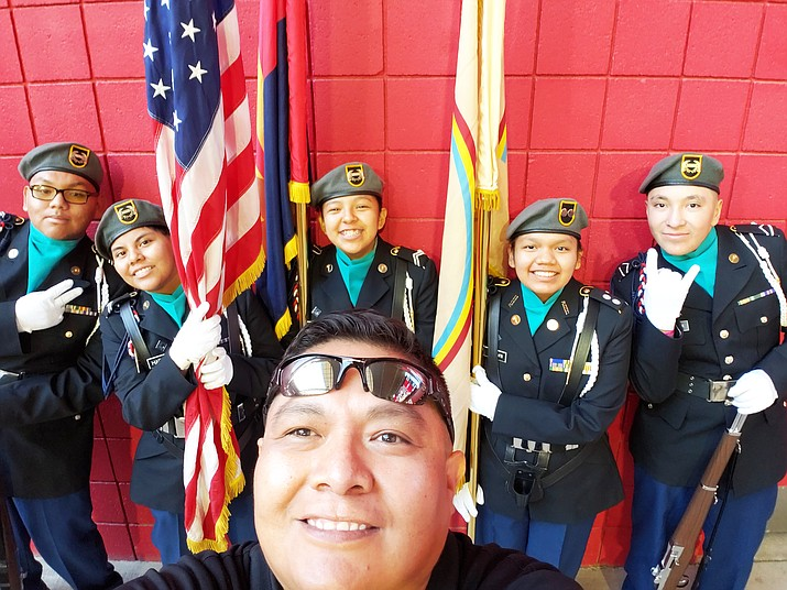 Pinon High School cadets pose for a picture before the Arizona Cardinals game Dec. 9. (Submitted photo)