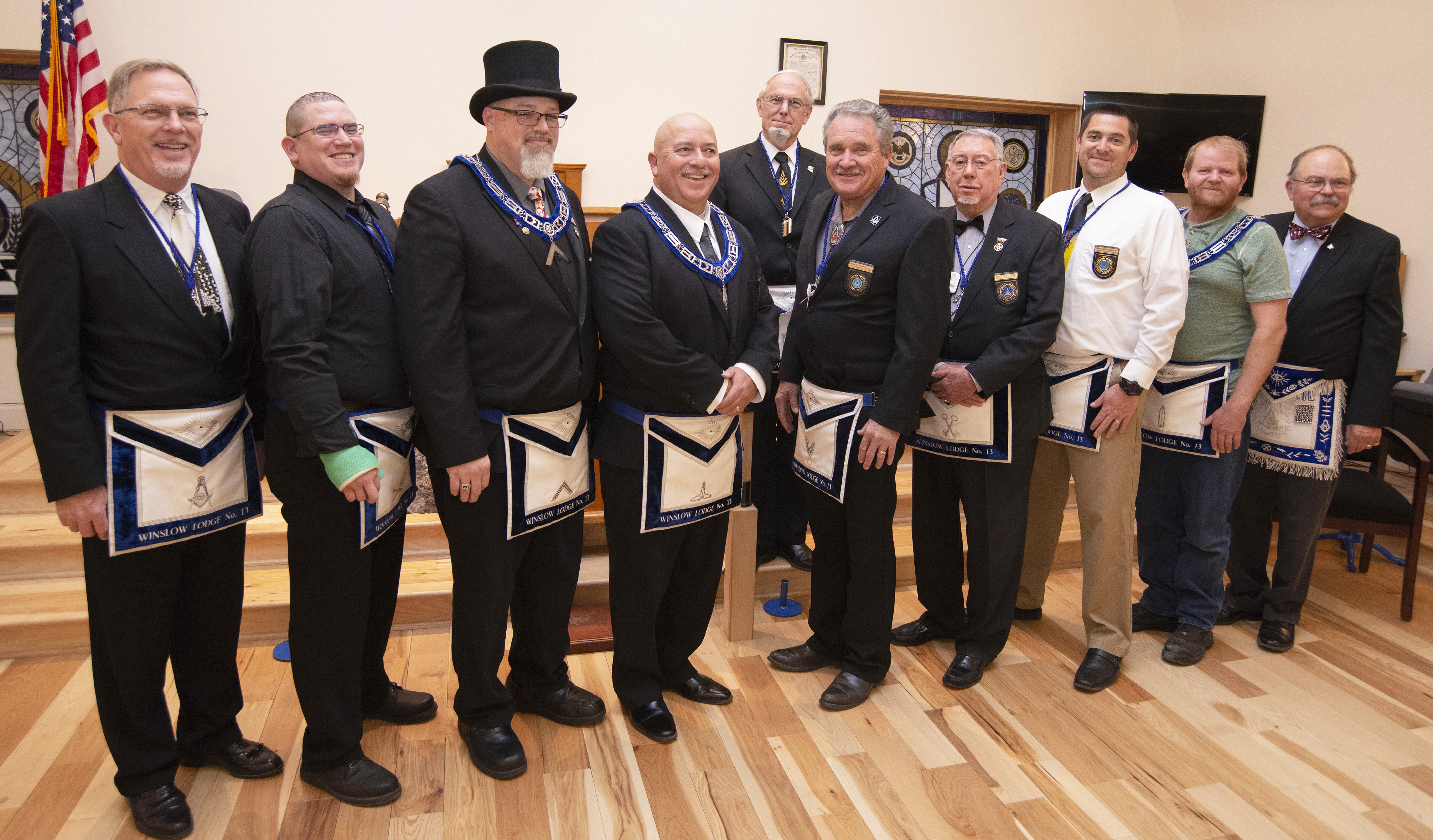 The Masonic Observer: Out With The Old, In With The New At Winslow Masonic Lodge