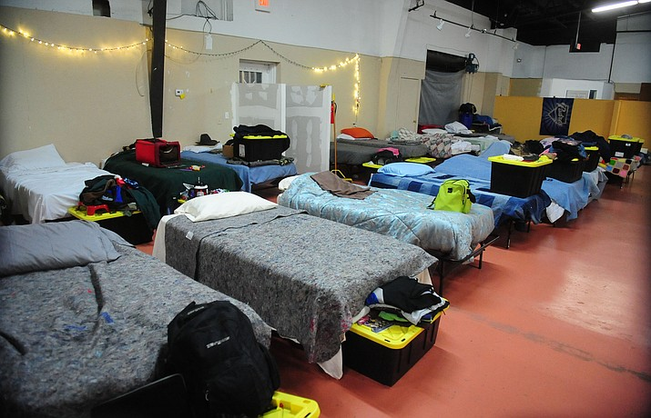 Beds wait for their residents at the Staggered Straight Homeless Shelter on Madison Avenue Avenue in Prescott Thursday, December 15. (Les Stukenberg/The Daily Courier)