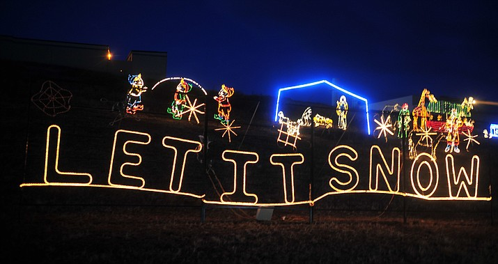 The Valley of Lights, in Prescott Valley, is open through Dec. 30. The drive-through experience is in Fain Park, 2200 N. Fifth St. (Courier, file photo)