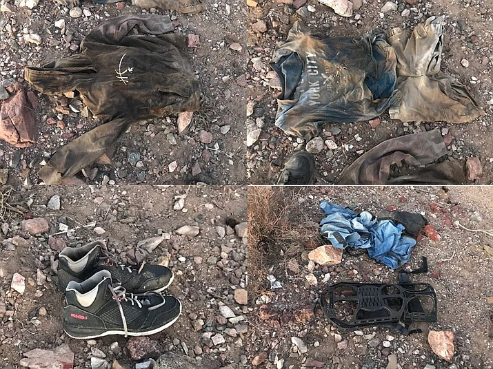 These items of clothing were close to human remains found near Lake Havasu City on Dec. 14. (MCSO photo)