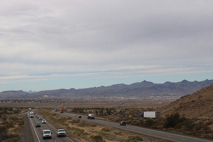 """Kingman Police Department Deputy Chief Rusty Cooper urges motorists traveling for the holiday to practice the """"spirit of the season"""" by implementing the attitude of """"goodwill towards men."""" (Photo by Travis Rains/Daily Miner)"""
