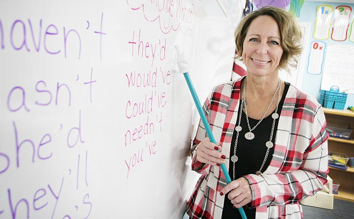 Wendy Hutchinson has taught at Camp Verde's American Heritage Academy for 12 of her 16 years in the classroom. VVN/Bill Helm
