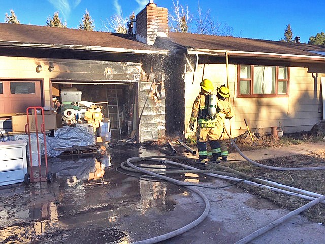Williams Fire Department tackles a house fire on 10th Street Dec. 19. (Williams Volunteer Fire Department)