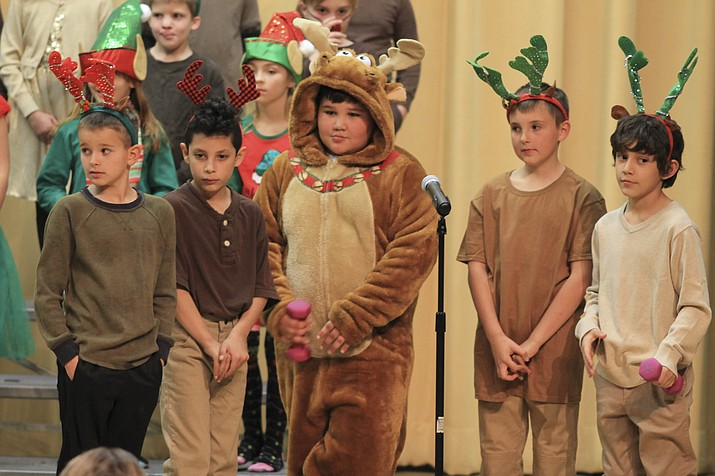 Second grade students at Williams Elementary School perform their annual Christmas show Dec. 19. (Loretta Yerian/WGCN)