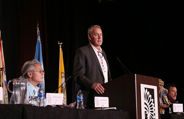 At the 75th annual convention of the NCAI, Secretary of Interior Ryan Zinke told tribal leaders that the BIA reorganization rests in their hands. Zinke resigned Dec. 15 from his positition as Interior secretary amid ethics scandals. (Office of the President)