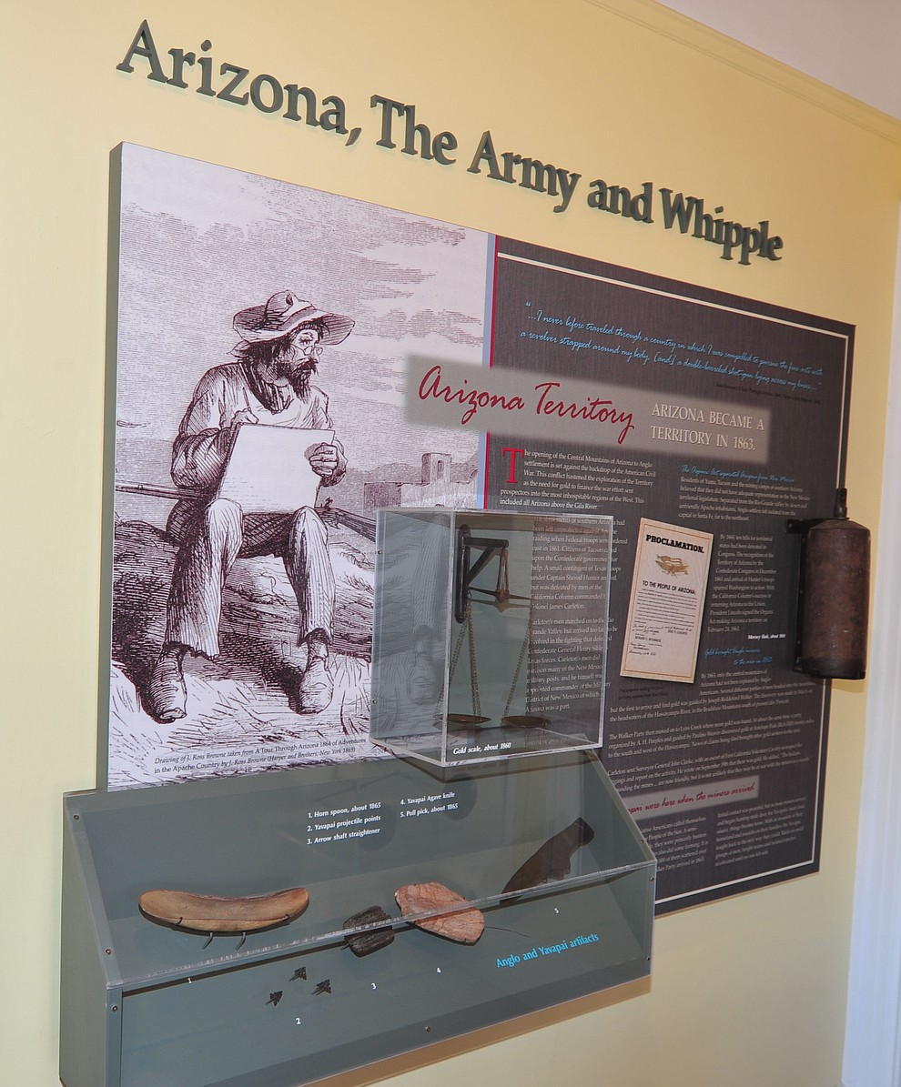 Historical items on display from it's earliest days at the Fort Whipple Museum on the grounds of the Northern Arizona VA Medical Center in Prescott. (Les Stukenberg/Courier).