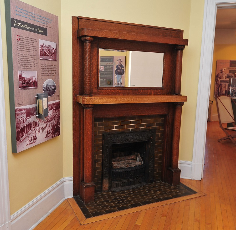 A fireplace at the Fort Whipple Museum on the grounds of the Northern Arizona VA Medical Center in Prescott. (Les Stukenberg/Courier).