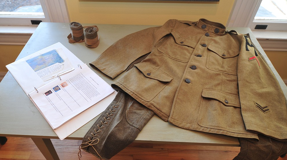 An army uniform on display at the Fort Whipple Museum on the grounds of the Northern Arizona VA Medical Center in Prescott. (Les Stukenberg/Courier).