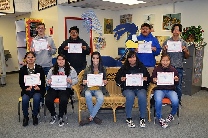 The November Holbrook Students of the Month. (Submitted photo)