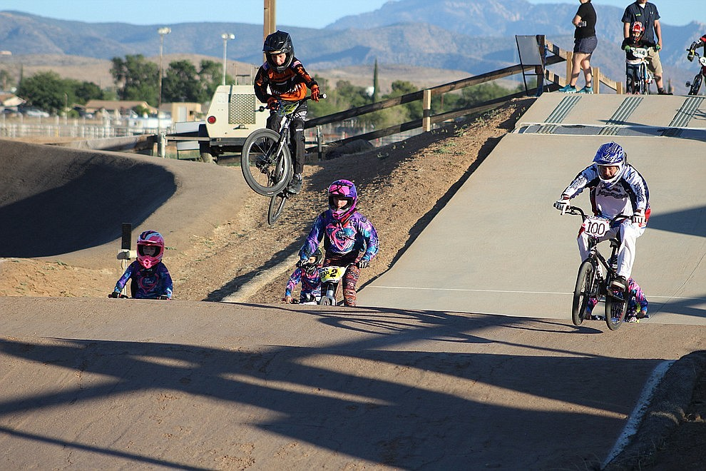 June 18 - Riders of all ages showed up at the Mohave County Fairgrounds Monday for High Desert 66 BMX's Olympic Day.