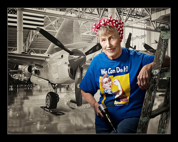 "Fran Ellis, a World War II ""Rosie the Riveter. (Courtesy)"