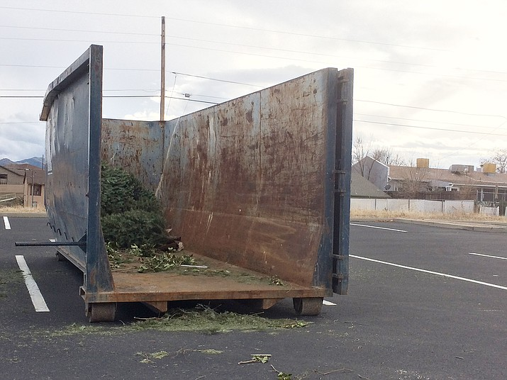 The Town of Prescott Valley offers residents the opportunity to recycle their cut Christmas trees after the holidays. The PV Parks and Recreation Department will accept cut trees in a specialty container in the south parking lot of Mountain Valley Park off East Nace Lane. Christmas tree disposal hours are dawn to 10 p.m. daily until Friday, Jan. 4. Residents are asked to remove all nails, stands, lights and decorations from trees before placing them into the container. Artificial trees, wreathes, yard debris and household waste are not permitted. For more information, contact Parks and Recreation at 928-759-3090. (Sue Tone/Tribune)
