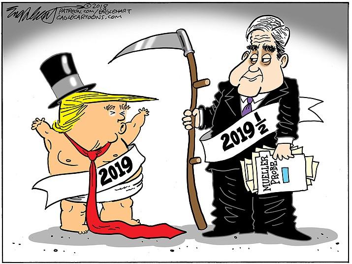Editorial cartoon (2): Jan. 2, 2019