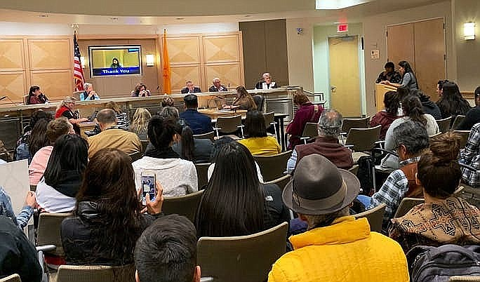 Parents, community members and students spoke at the school district's equity and inclusion meeting to express their concern over the incident. (Photo/Indian Country Today)