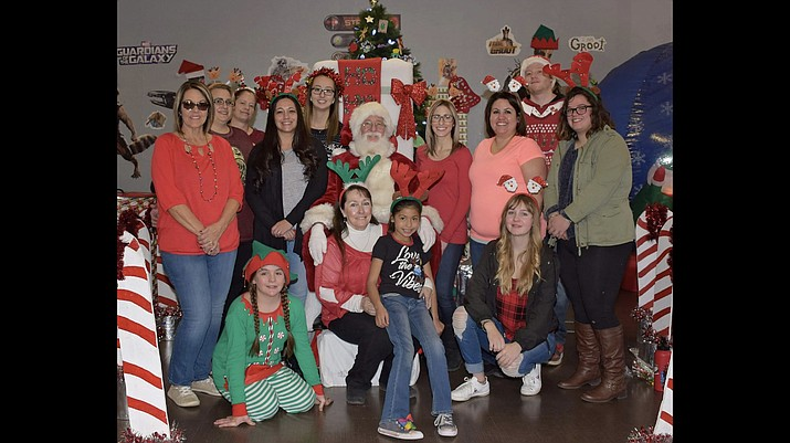 The Williams Recreation Center employees hosted Santa's World of Wonders Dec.   15 for local children. The staff provided crafts, refreshments and a photo opportunity with Santa at the event. (Photo/City of Williams)