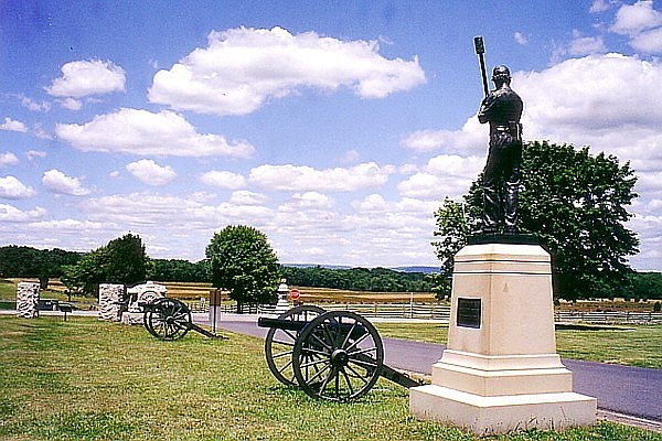 Hampton's Pennsylvania Battery at Gettysburg battlefield. (Photo/NPS)