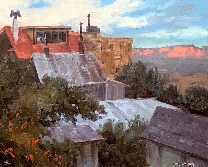 """School Street View,"" 9"" x 12"" Oil, Cody DeLong Studio"