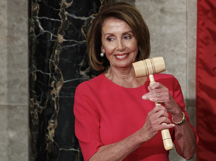 House Speaker Nancy Pelosi of California holds the gavel after at the Capitol in Washington, Thursday, Jan. 3, 2019. (Carolyn Kaster/AP)