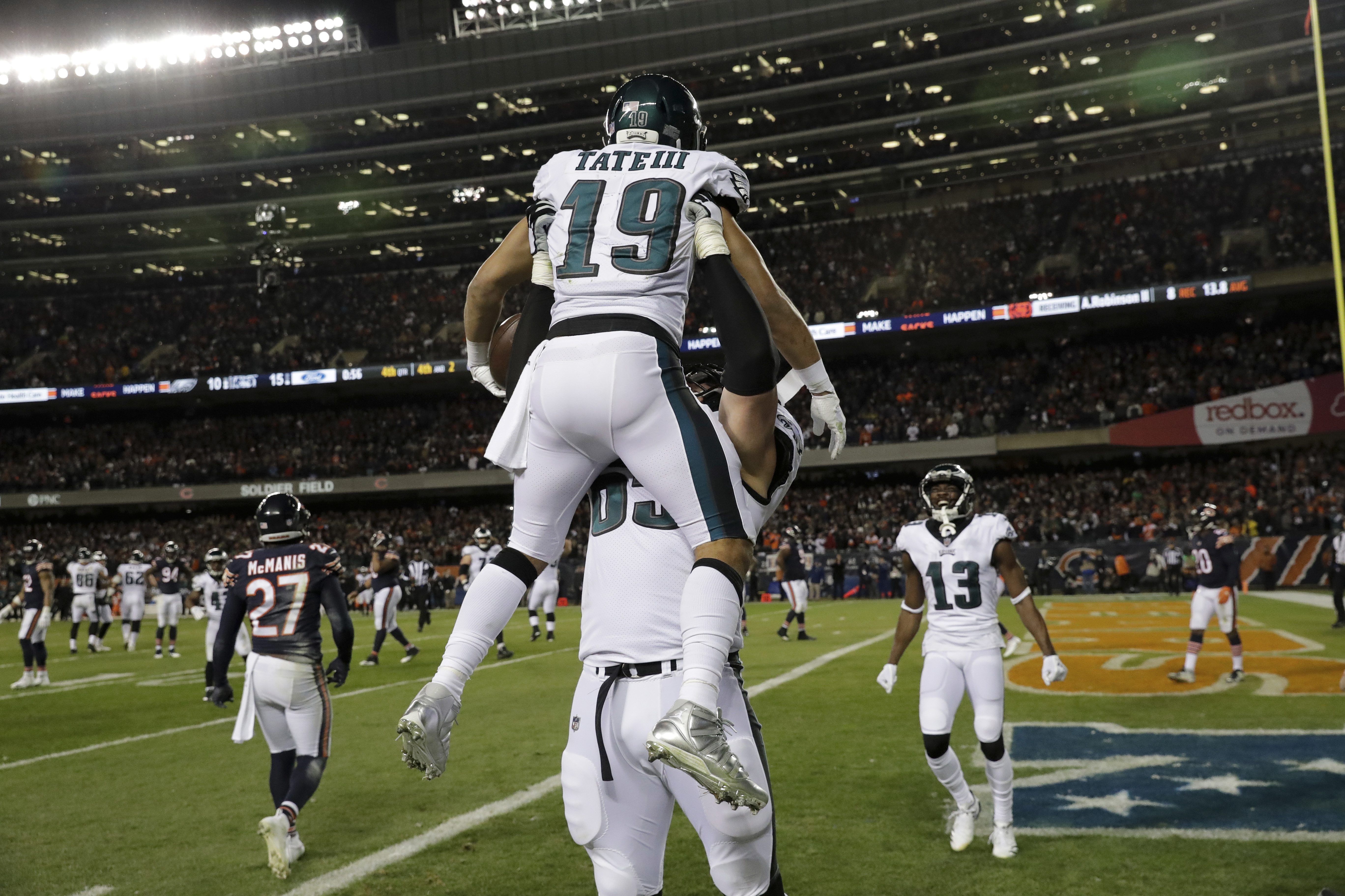 7a341b677a8 Nick Foles leads Eagles to 16-15 upset of Bears | The Daily Courier ...