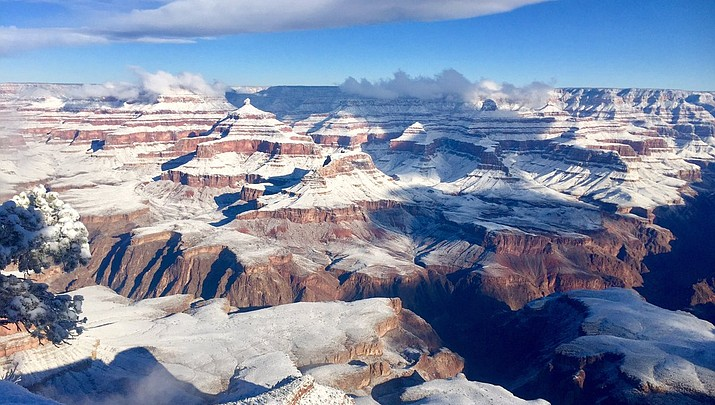 Winter storm leaves snowy signature across the Grand Canyon