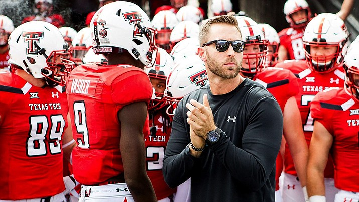 Kliff Kingsbury inherits an Arizona Cardinals team that finished last in the NFL in all major offensive categories last year. Quarterback Josh Rosen, who as a rookie took over as starter four games into the season, had an up-and-down year with no significant improvement. (Photo courtesy of Texas Tech Athletics)